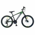 Bicicleta MTB-HT Shimano Tourney TY-300 24 inch Carpat CSC24/99A verde