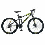 Bicicleta MTB-HT Shimano Tourney TZ500D 18 Viteze 26 inch CSV26/60D negru/verde