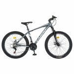 Bicicleta MTB-HT Shimano Tourney TZ500D 26 inch Carpat CSC26/58C gri cu design alb/negru