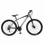 Bicicleta MTB-HT Shimano Tourney TZ500D 27.5 inch Carpat CSC27/58C gri cu design alb/negru