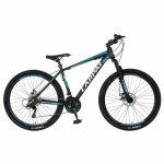 Bicicleta MTB-HT Shimano Tourney TZ500D 27.5 inch Carpat CSC27/58C negru cu design alb/albastru