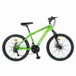Bicicleta MTB-HT Saiguani 24 inch Velors Poseidon CSV24/09A verde/alb/negru