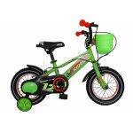 Bicicleta baieti Carpat Rider C1207C 12 inch V-Brake 2-4 ani verde/portocaliu