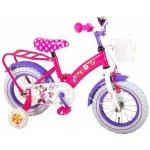 Bicicleta copii Volare Minnie Mouse cu roti ajutatoare 12 Inch cu portbagaj metalic