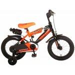 Bicicleta copii Volare Sportivo Portocaliu 14 inch cu frana de mana si sticla apa