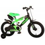 Bicicleta copii Volare Sportivo Verde 14 inch cu frana de mana si sticla apa