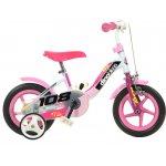 Bicicleta copii cu maner pentru parinti Dino Bikes roz