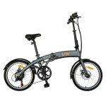 Bicicleta electrica (E-BIKE) pliabila I-ON CSI10/04E 20 inch culoare gri/portocaliu