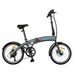 Bicicleta electrica (E-Bike) pliabila I-ON I1004E roata 20 inch culoare gri/albastru