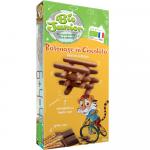 Biscuiti bastonase de ciocolata cu lapte Bio Junior, 125 g