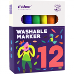 Carioci lavabile 12 culori Mideer MD4069