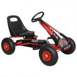 Kart M-Toys cu pedale si volan rosu