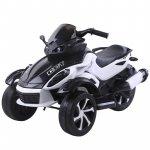 Motocicleta electrica cu lumini Nichiduta Gallop White