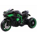 Motocicleta electrica cu roti cu lumini LED si scaun din piele Nichiduta Motocross Black