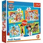 Puzzle Trefl 4 in 1 Patrula Catelusilor