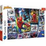Puzzle Trefl poster cu Spider-man super eroul 500 piese