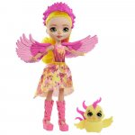 Papusa Enchantimals by Mattel Falon Phoenix cu figurina Sunrise