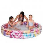 Piscina gonflabila cu 3 inele Candy World 122x23 cm