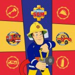Prosopel magic Pompierul Sam 30x30 cm SunCity FRA100341
