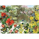 Puzzle Anatolian Barbara Behr Peacock In The Garden 1.000 piese
