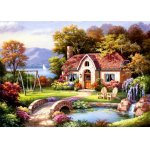 Puzzle Anatolian Sung Kim Spring Cottage In Full Bloom 1500 piese