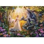 Puzzle Educa Dragon princess and unicorn 1500 piese include lipici puzzle