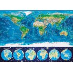 Puzzle Educa Neon World Map 1000 piese include lipici puzzle