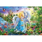 Puzzle Educa The princess and the unicorn 1000 piese include lipici puzzle