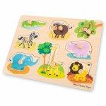 Puzzle lemn Safari 9 piese
