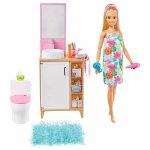Set Barbie by Mattel Mobilier baie cu papusa si accesorii GRG87