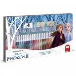 Set pictura 41 piese, 3 stampile, tus, 36 carioci si caiet cu activitati Frozen 2 Multiprint