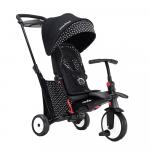 Tricicleta pliabila Smart Trike 7 in 1 STR5 Black/White dotata cu frana si scaun rabatabil