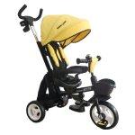 Tricicleta pliabila cu sezut reversibil Bebe Royal Milano Galben