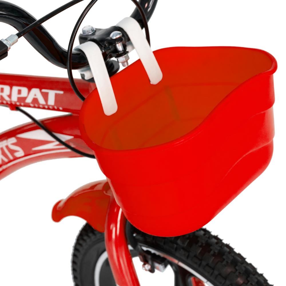 Bicicleta copii 4-6 ani 16 inch din magneziu roti ajutatoare cu Led Carpat Kids CSC1600A rosu alb - 1