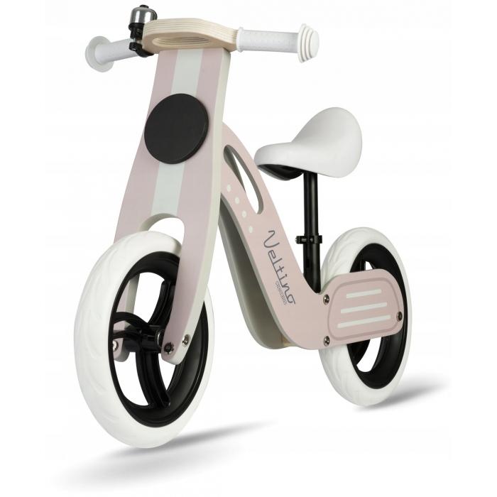 Bicicleta de lemn fara pedale Ricokids Veltino RC-619 Roz - 5