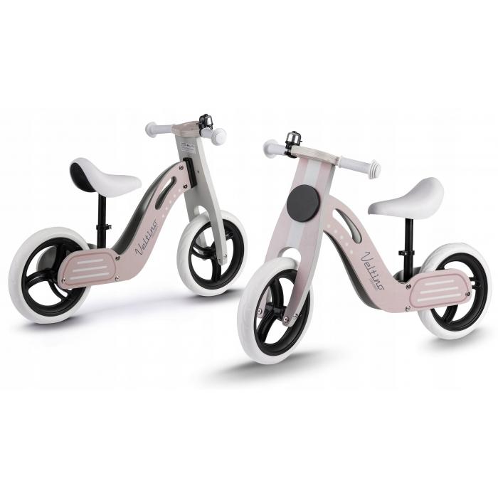 Bicicleta de lemn fara pedale Ricokids Veltino RC-619 Roz