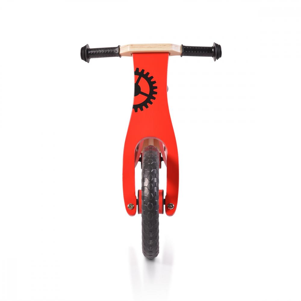 Bicicleta din lemn fara pedale Moni Wooden balance bike Red