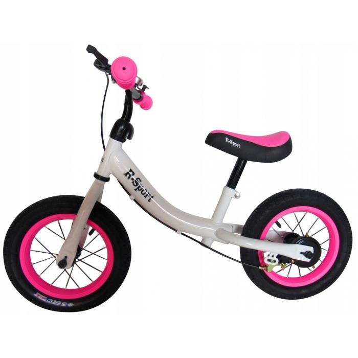 Bicicleta fara pedale R-Sport R3 alb-roz