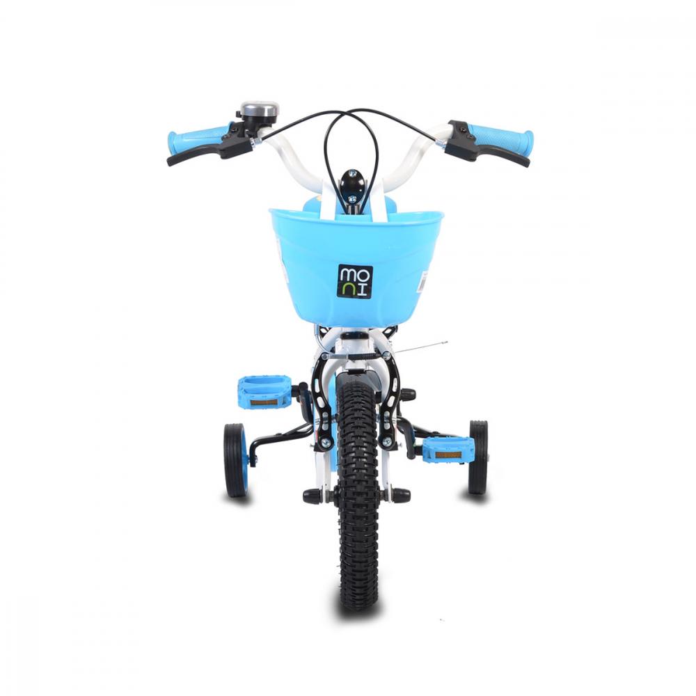 Bicicleta pentru copii cu cadru iluminat Moni Flash Blue 12 inch
