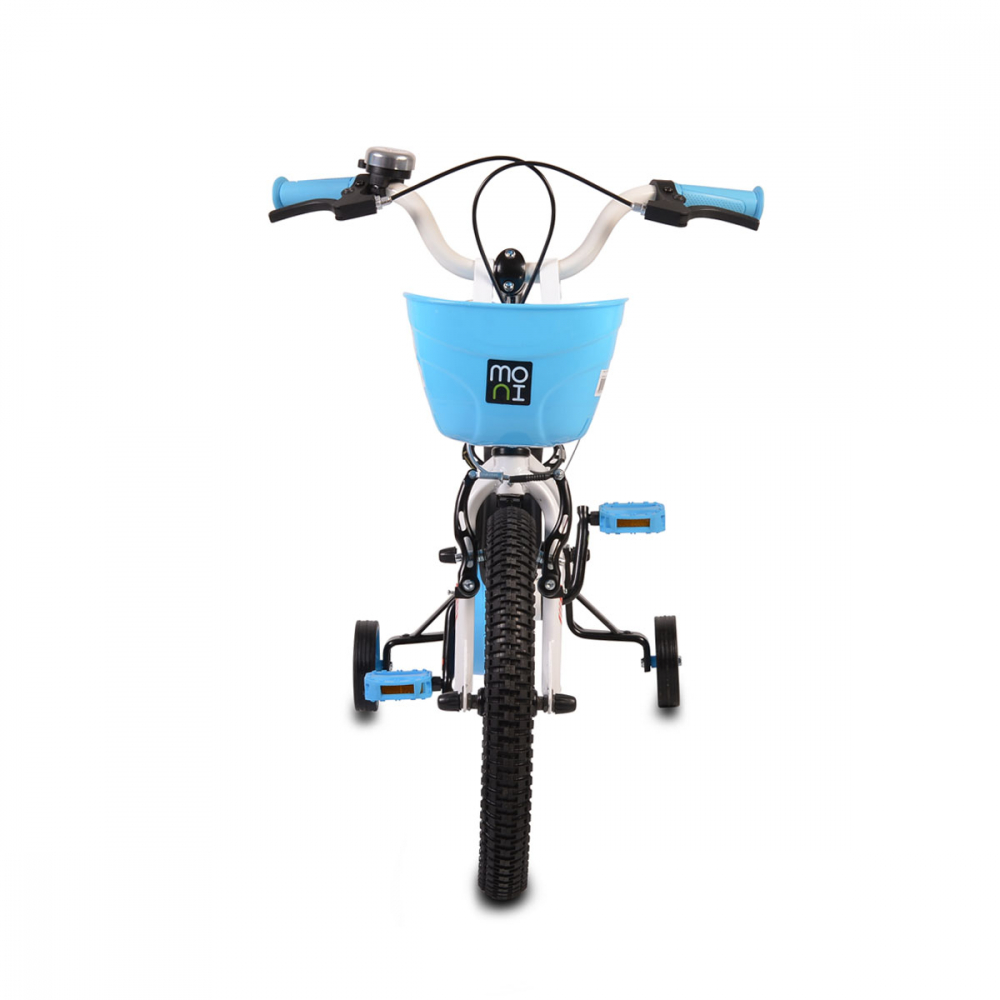 Bicicleta pentru copii cu cadru iluminat Moni Flash Blue 16 inch