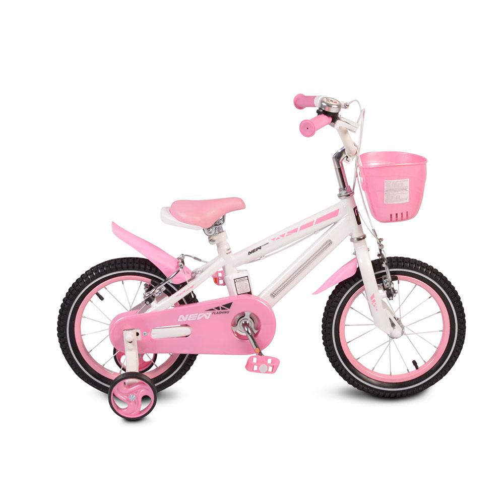 Bicicleta pentru copii cu cadru iluminat Moni Flash Pink 12 inch