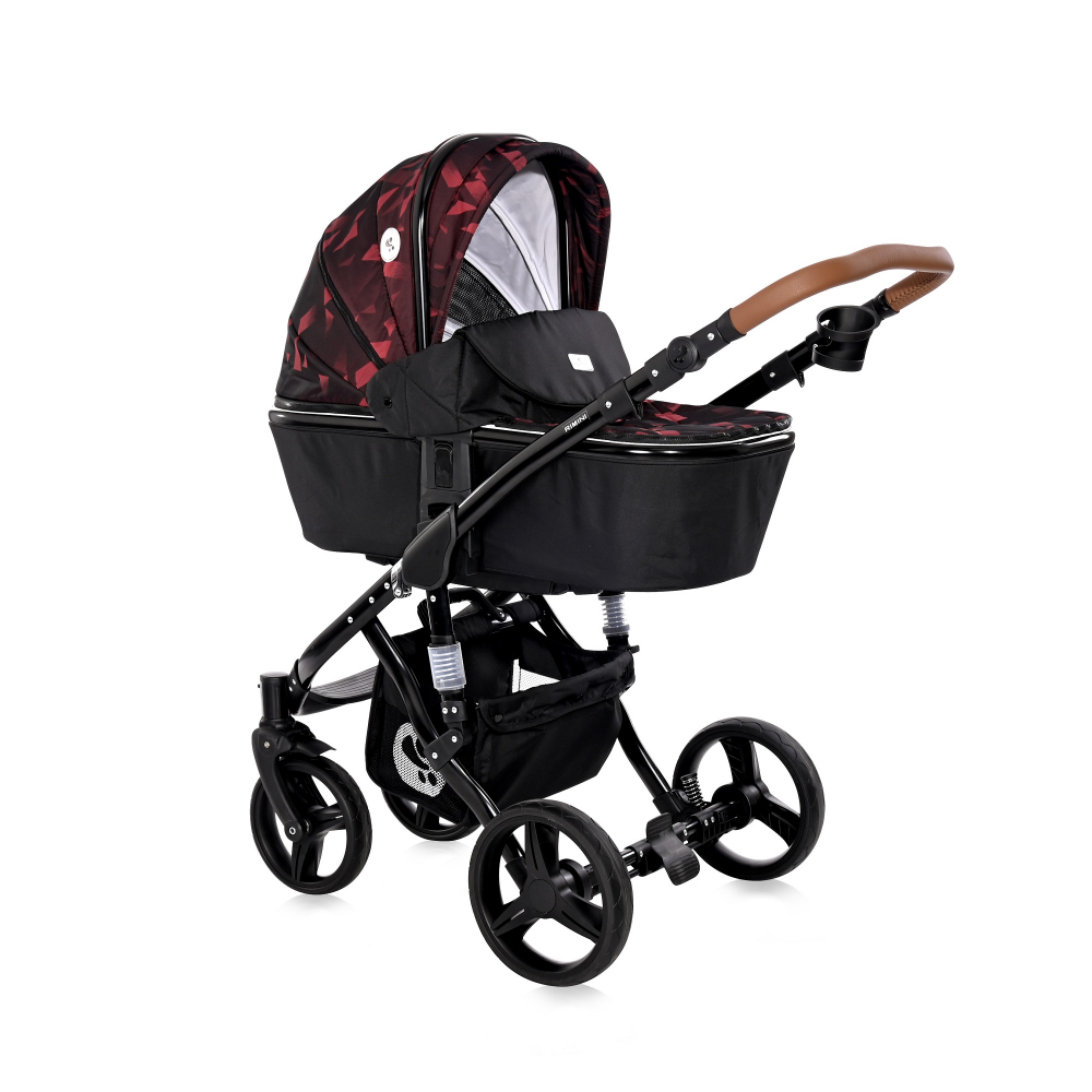 LORELLI Carucior 2 in 1 Rimini Ruby Red  Black