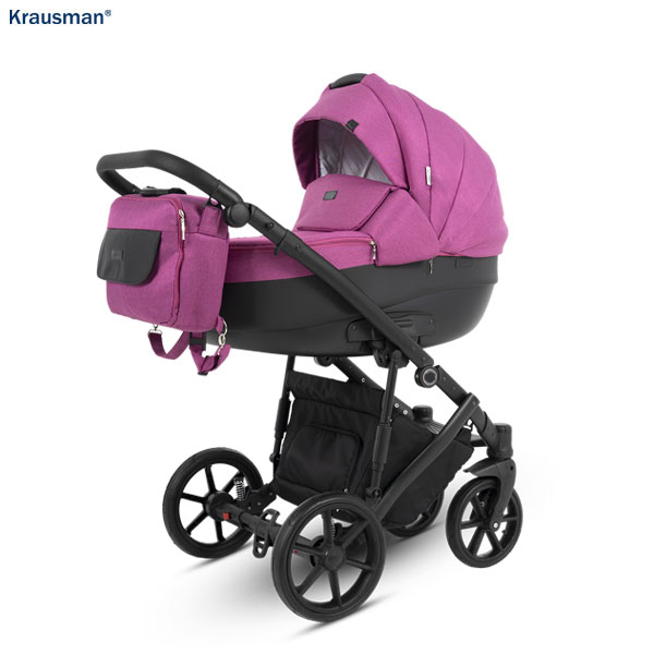 KRAUSMAN Carucior 3 in 1 Owo Plus Pink