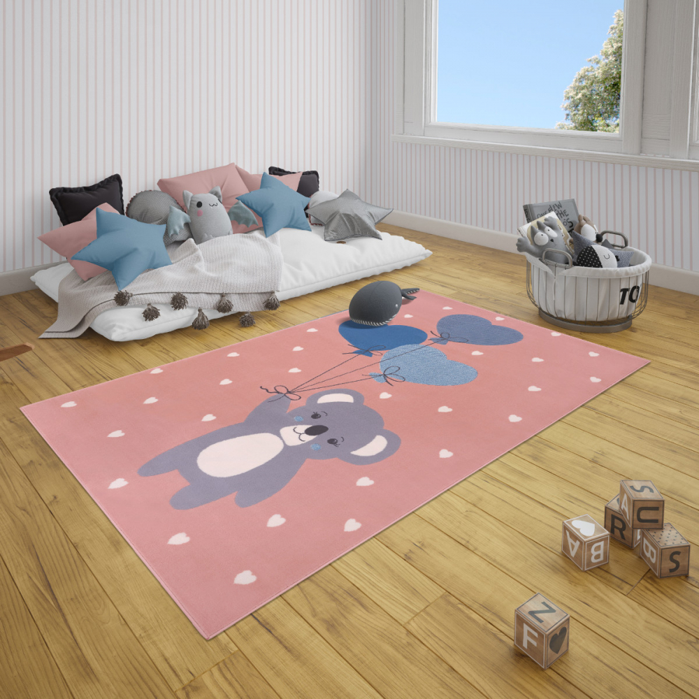 Covor copii tineret Adventures roz 160x220