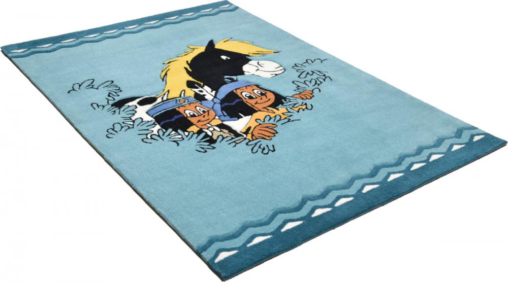 Covor copii tineret Petala albastru 100x160