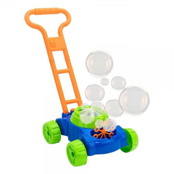 Masina de tuns iarba pentru copii Globo WToy cu dispozitiv baloane de sapun - 1