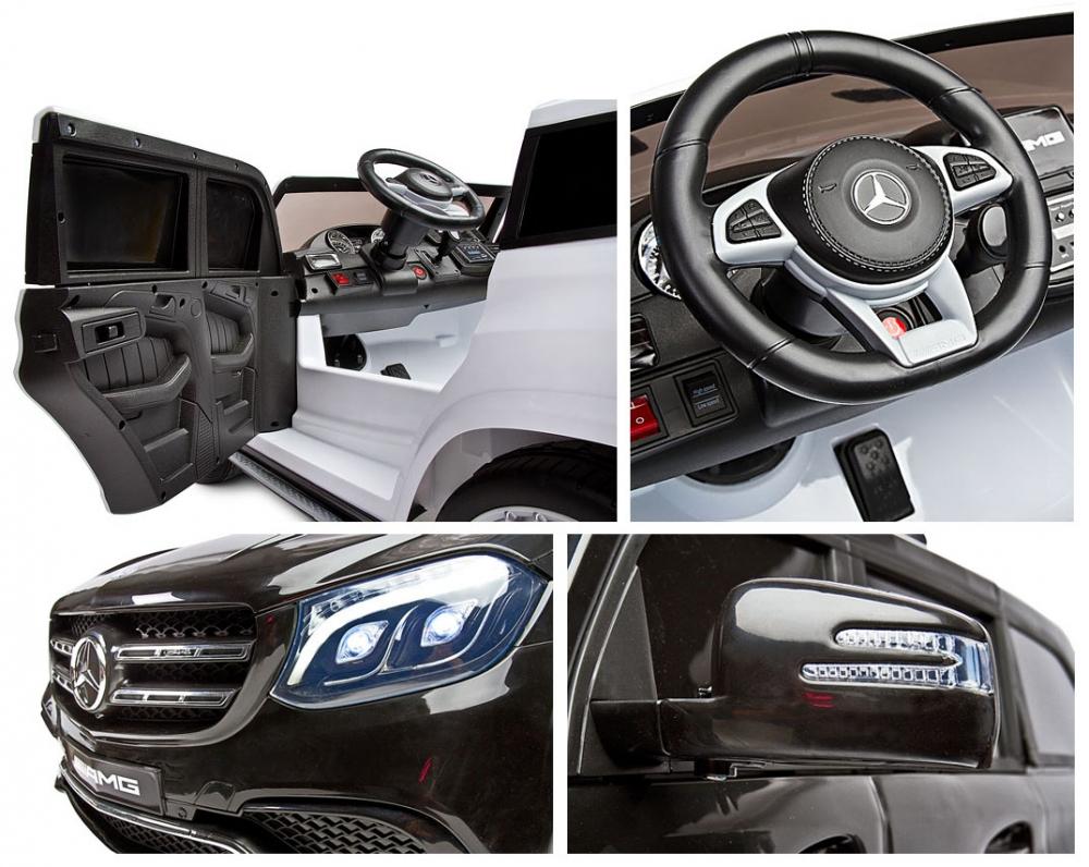 Masina electrica cu doua locuri Toyz Mercedes-Benz GLS63 12V alba - 2