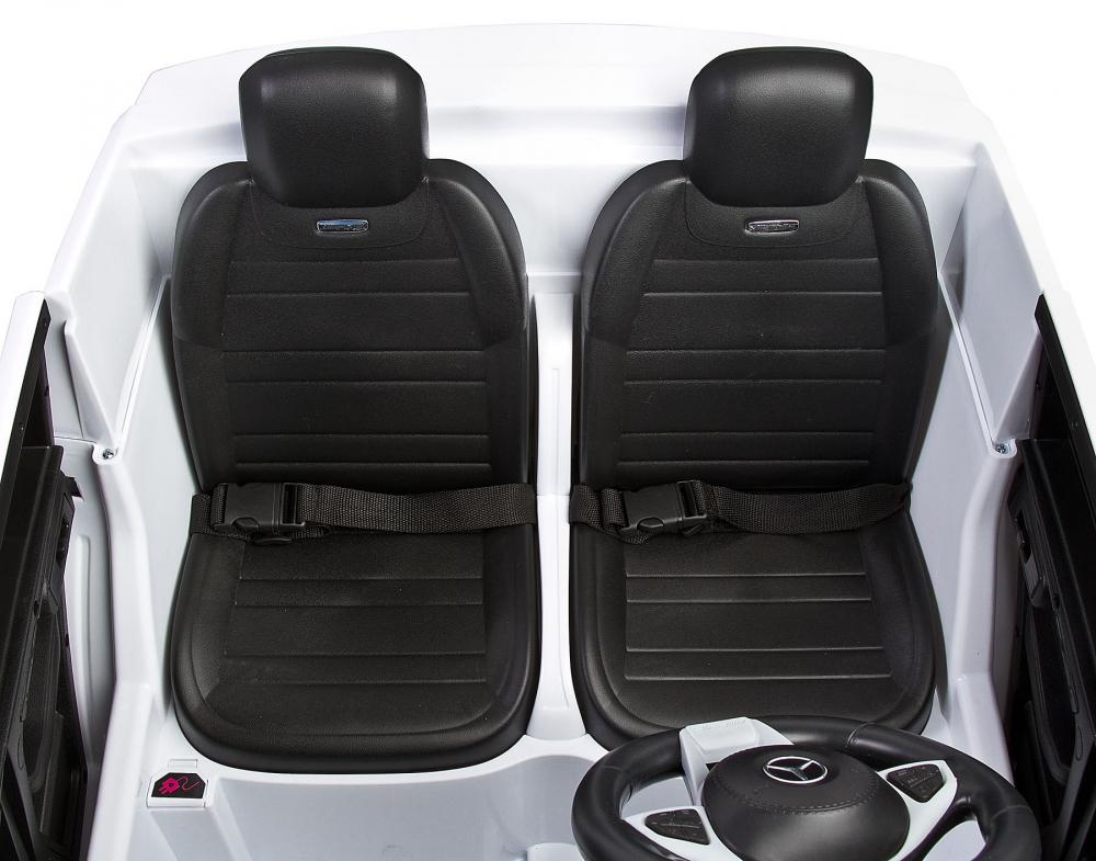 Masina electrica cu doua locuri Toyz Mercedes-Benz GLS63 12V alba - 3