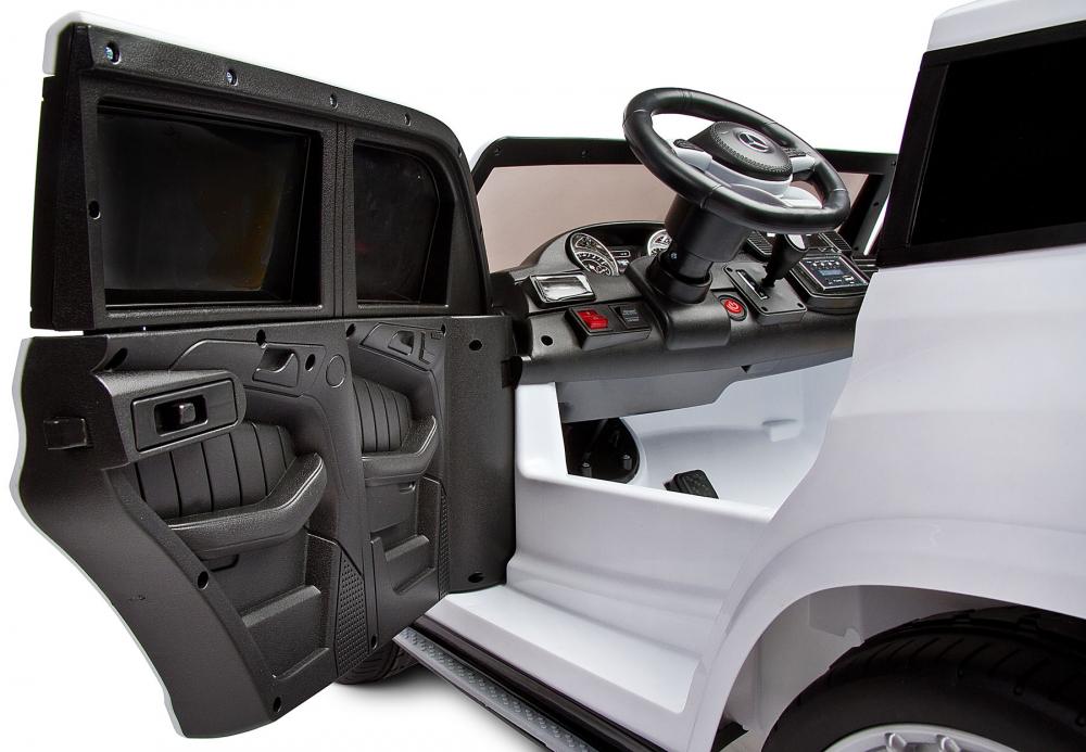 Masina electrica cu doua locuri Toyz Mercedes-Benz GLS63 12V alba - 4