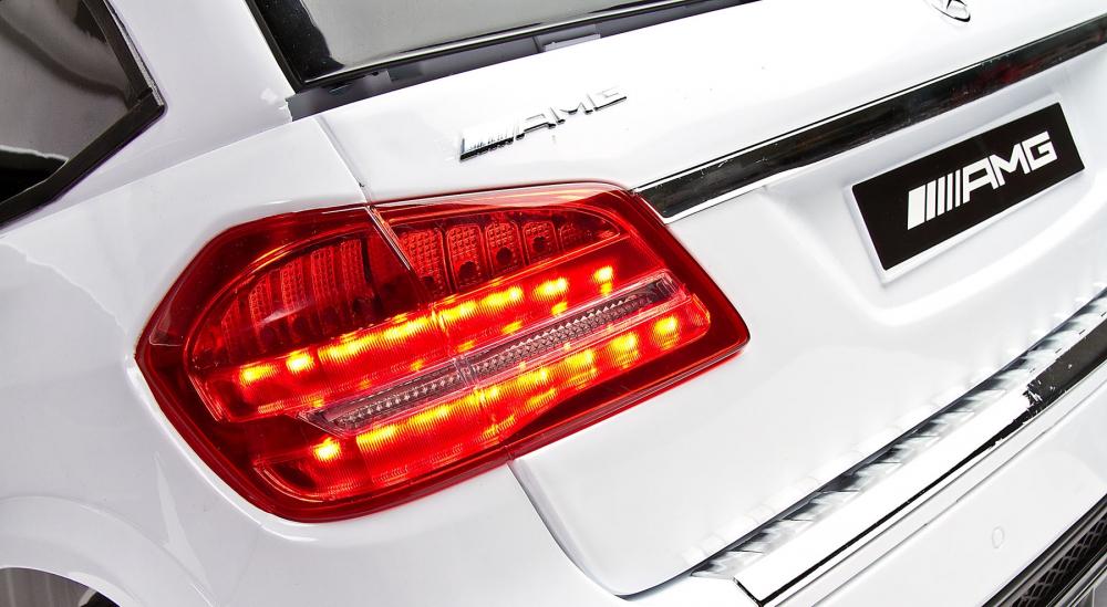 Masina electrica cu doua locuri Toyz Mercedes-Benz GLS63 12V alba - 5